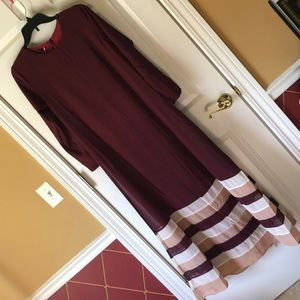 'NEW' Long Maroon Dress